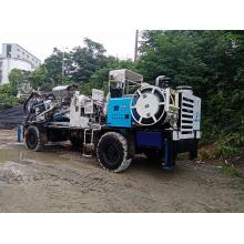 Perforadora de roca de pozo de agua diesel montada en tractor