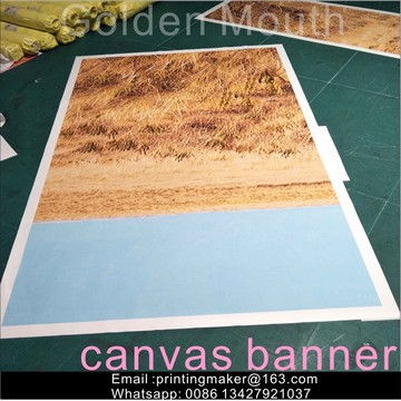 Custom Printed Canvas Banner Utskrift för dekoration