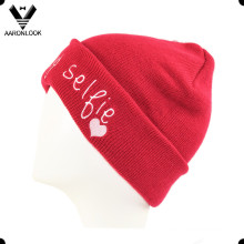 Lady Acrylic Cute Letter Embroidery Beanie