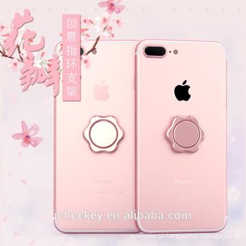 Suporte magnético do anel para o telefone móvel, suporte do anel de dedo do metal para Iphone 6S