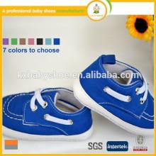 2015 zapatos suaves coloridos del niño de la manera de la alta calidad de la tela de algodón del nuevo estilo