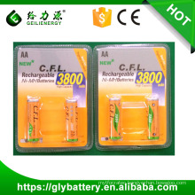 CFL AA 3800mah rechargeable cfl batteries ni-mh battery nimh battery