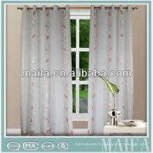 2015 nouveau design 100% polyester autrichienne rideaux transparents