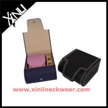 Cravate en cuir cadeau ensemble cravate