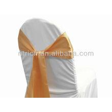 Peach, ceinture de chaise satin fantaisie vogue cravate, noeud papillon, noeud, housses bon marché de mariage et jupettes à vendre