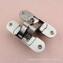 Charnière de porte dissimulée en alliage de zinc 60 Kg pour installation encastrée