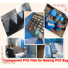 Filme de PVC transparente para fazer o saco do PVC