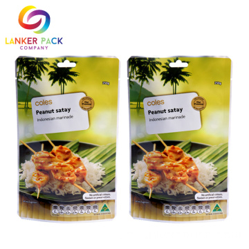 High Tempeature Aluminium Foil Stand Up Retort Pouches