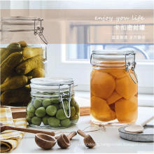 500ml 750ml 1000ml Food Use Stocked Airtight Glass Clip Top Jars Square Glass Food Storage Jar