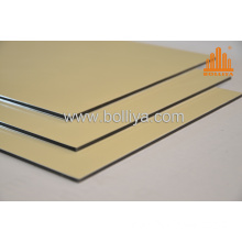 ACP Cladding Materials/Brushed Aluminium Decorative Materials Mt-2823 Golden