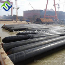 Marine natural rubber boat airbag used for floating bridge and dock construction