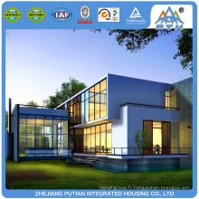 Assembler rapidement une villa préfabriquée moderne en acier léger à faible coût