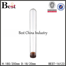 D18mm glass test tubes with cap, empty test tube for sale, round glass test tube with pp cap