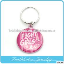 Aleación de zinc ecológica fundición lucha chicas logo metal llavero logo aleación rosa esmalte llavero