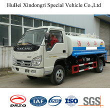 5cbm Foton Forland Euro 3 Diesel Water Sprinkler Truck with Side Sprayer