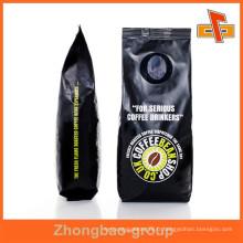 Vente chaude Black Gavure Matt Printing Side Gusset Coffee Packaging Bag