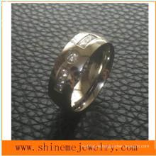 Señora moda joyería de acero inoxidable anillo de diamantes (czr2521)
