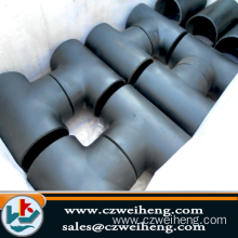high pressure carbon steel Pipe Tee fittings