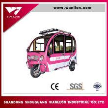 Triciclo eléctrico del pasajero de la vespa de la rueda del triciclo adulto 800W