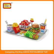 LOZ Nouveau style alimentaire style Diy Block Block Toy