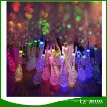 20/30 LED Solar Powered Gota de Água Luzes Da Corda LEVOU Luz De Fada para o Casamento Festa de Natal Festival Ao Ar Livre Decoração Interior