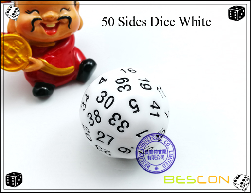 50 Sides Dice White