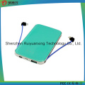 Slim Card Power Bank with Built-in Cable