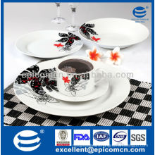 20pcs round luxury ceramic dinner set manufatures ceramic dinnerware hong kong