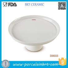 Plaque de gâteau de style simple en gros blanc