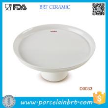 Atacado White Simple Style Cake Plate