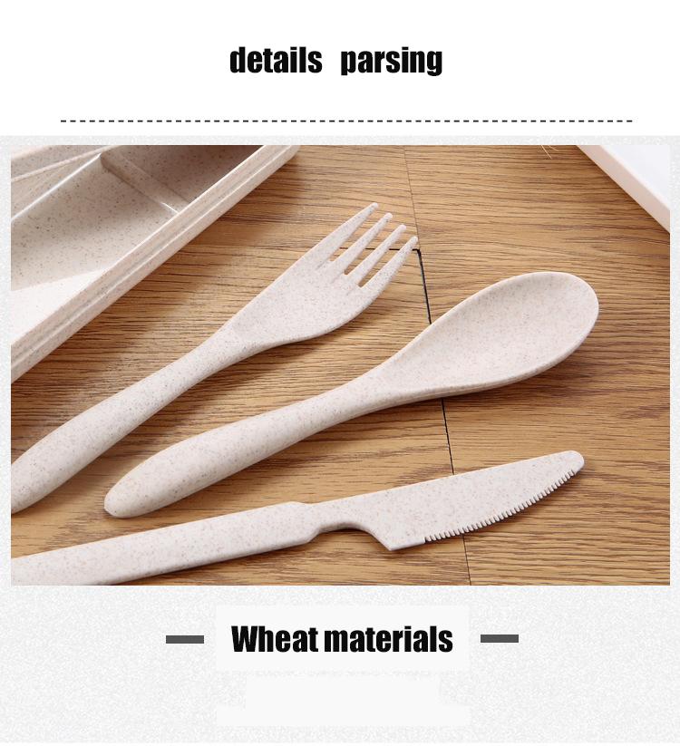 Wheat Straw Spoon Fork Knife Set