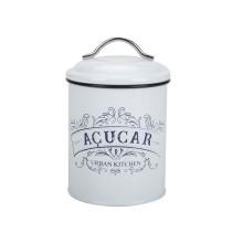 White Coffee Tea Sugar Canister Set
