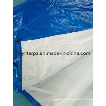 High Quality Blue/White PE Tarpaulin Cover, Finished Tarpaulin Sheet