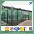 pvc bersalut 868 twin wire fencing panel