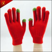 Escola estilo cinco dedos tela luva