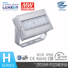 UL SAA Certificated 40W Meanwell Driver LED Floodlight with Philips Chip 5 Years Warranty