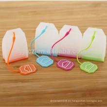 bolsas de té de silicona reutilizables