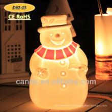 Lámpara de mesa de cerámica de diseño Snowman Lámpara de navidad de decoración nueva
