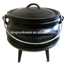 Potenciômetro quente do potjie do ferro fundido da qualidade superior Eco-amigável usado acampando
