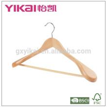 Вешалки для одежды из эвкалипта для одежды с широкими плечами