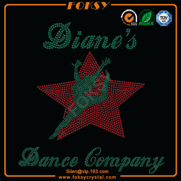 Red Star with Dancer hot fix crystals patterns