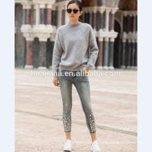 Suéter que hace punto de la cachemira de la mujer de la moda 2017