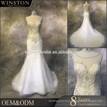 OEM factory drop cintura casamento vestido