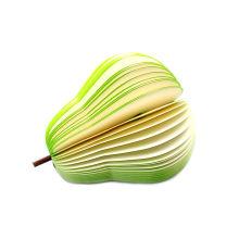 Almofada de memorando Eco-Amigável colorida da forma da fruta da almofada de nota da propaganda 3D
