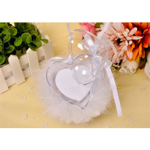 Fashion beidal party heart-shaped beading decoration ring bearer pillow