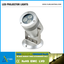 YJX-0029 IP65 3W 6W 9W Waterproof Stand Projector Surface Mounted Outdoor LED Wall Light