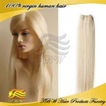 Cabelo remy virgem brasileiro cor 613 cabelo loiro tecer atacado
