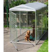 Double porte en métal Cage de chien Cage de chien cage / cage de chien en poudre / cage pour animaux de compagnie