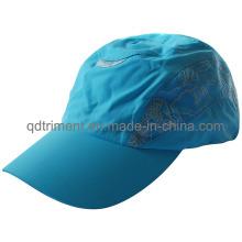 Luz de poliéster de microfibra de tela al aire libre de ejecución de deporte sombrero (trRC006)