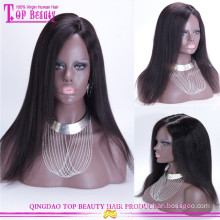 100% Human Hair Glueless Yaki Human Hair Wig Italian Yaki Human Hair Full Lace Wig